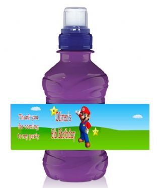 Super Mario Bottle Label Wrapper.